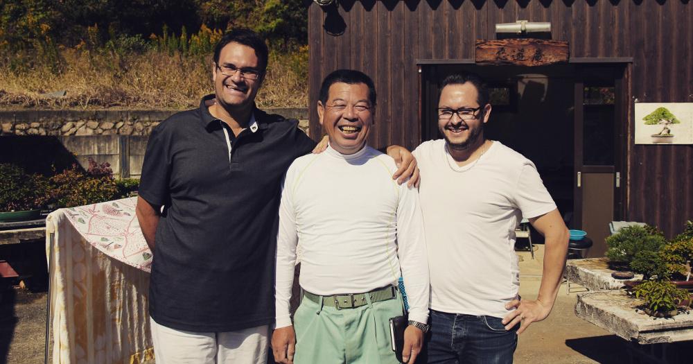 Hiroyuki TANIBATA et l'équipe bonsai shohin