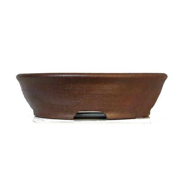 pot rond brun rouge