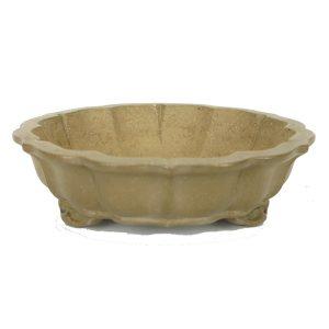 Hauteur : 5cm Diamètre : 17,5cm pot japonais non émaillé forme lotus
